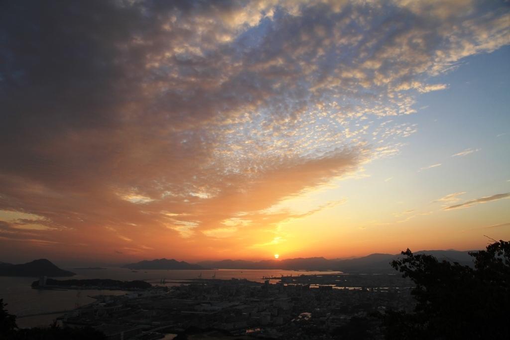 黄金山からの夕日