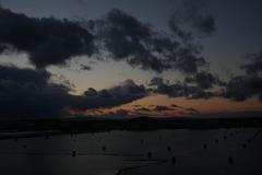 大阪港的黄昏