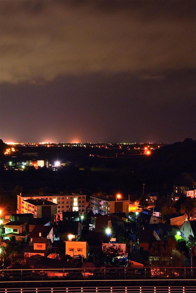 田舎の夜景