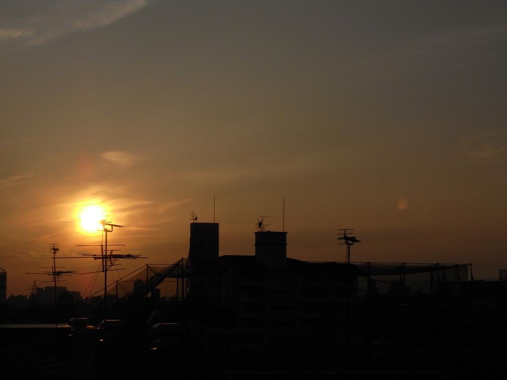 いつも見る夕日