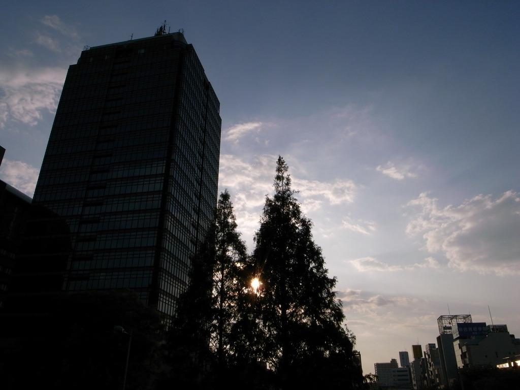 大阪堺の夕暮れ