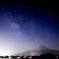天の川と富士山