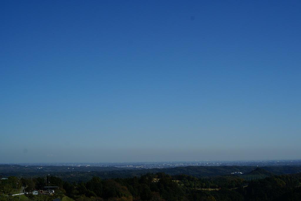奥武蔵から関東平野を望む