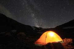 星とテント
