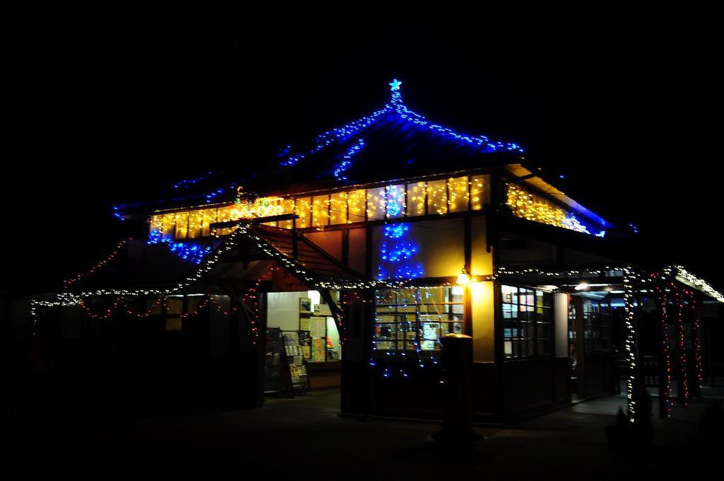 長瀞駅ライトアップ