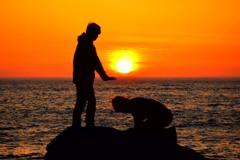 日本海の夕焼け2