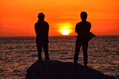 日本海の夕焼け1