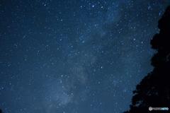 初めて星空を撮影。