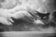 荒ぶる中禅寺湖
