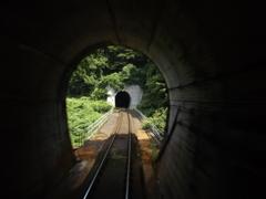 会津鉄道「トンネル」