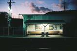 ローカル線の夜。