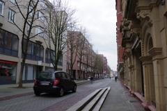 ドイツ ホテル前の道