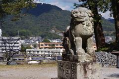 大分ちょっと旅行 臼杵城跡 狛犬様
