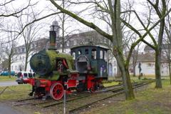 ドイツ 大学内の列車