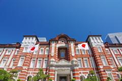 東京散歩 東京駅と日の丸