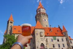 チェコ litovel 地ビールと一緒に