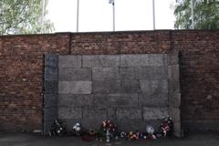 アウシュビッツ強制収容所 銃殺用の壁