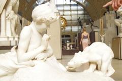 オルセ-美術館 子供と豚さん?