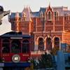電車と夕日のタワーオブテラー