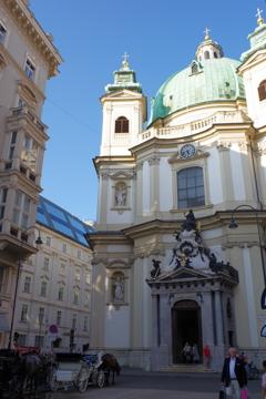 ウィーン1日目 古い教会 地味なところにある