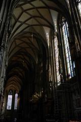 ウィーン1日目 シュテファン大聖堂内 流石に広いです。