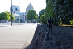 ブラックパンサーに東京を案内した 国会議事堂