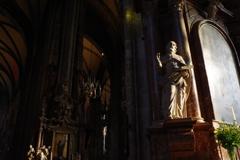 ウィーン1日目 シュテファン大聖堂 厳かな雰囲気