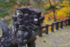 奥多摩湖 小河内神社 狛犬様