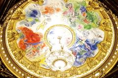 パリ中心 オペラ・ガルニエ 天井絵 シャガール作