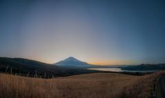 夕暮の富士パノラマ