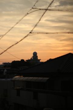 名古屋地方気象台 夕日