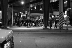 深夜の人民大移動