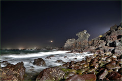 濟州島の龍頭岩