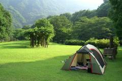キャンプ 五十里湖