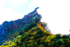 色づきは山頂から