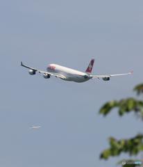「良い天気」 SWISS A340-313 クロス Takeoff