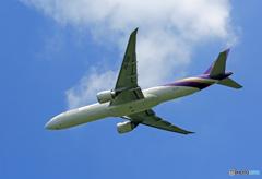 「はれー」 Thai 777-3AL HS-TKO Takeoff