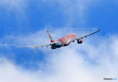 「良い天気」 Air Asia A330 離陸 べいぱー