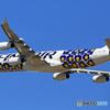 「青色」Finnair 「マリメッコ・ウニッコ」A340-313 Takeoff