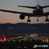 ✈ 初めての伊丹の夜・千里川 (2) Landing ✈
