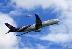 「良い空~」 Thai A330-343 ダブル Takeoff ‼