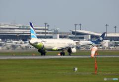 「すかい」 Air Busan A321-231 HL7735 離陸します