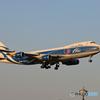 「青空」Air Bridge 747-400 VQ-BHE Landing