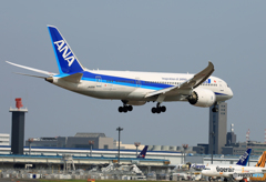 「すかい」 ANA 787-8 JA831A 着陸します