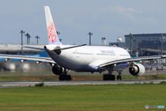 「ぶるー」 China Air A330-302 B-18303出発です
