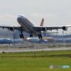 「青が大好き」 SWISS A340-313 HB-JMC 離陸