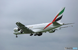「☁」 Emirates A380-861 A6-EUE 着陸