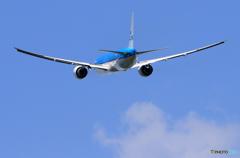 「晴れ」 KLM 777-200 PH-BVU 離陸