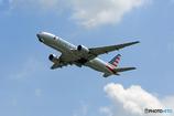 「空色」 American 777-223 N753AN 飛び立ち