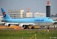 「青空」 KOREAN 747-8 ジャンボ機 Takeoff